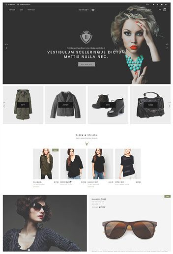 Shop with category slider