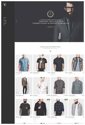 Shop with side navigation